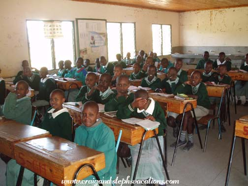 5th grade students at Siana Maasai Boarding School
