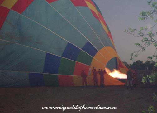 Filling up the balloon