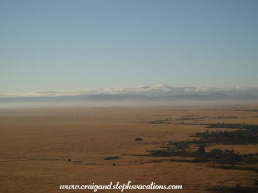 View of Maasai Mara from the balloon safari