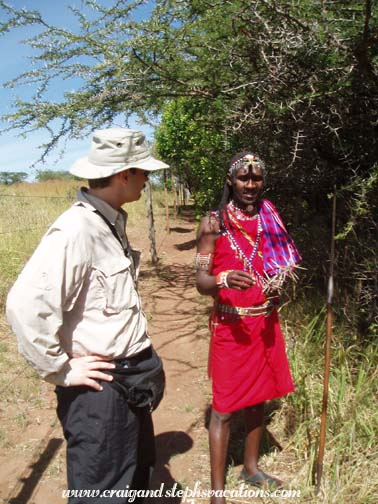 Nature walk with Maasai warrior Kelvin