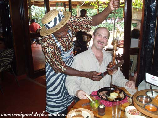 Lunch at the Carnivore Restaurant in Nairobi