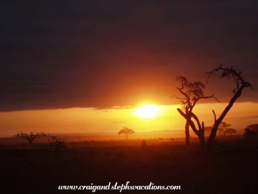 Sunrise at Amboseli
