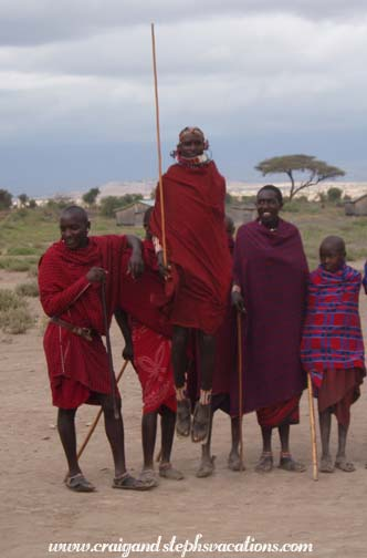 Men dancing at the Maasai village