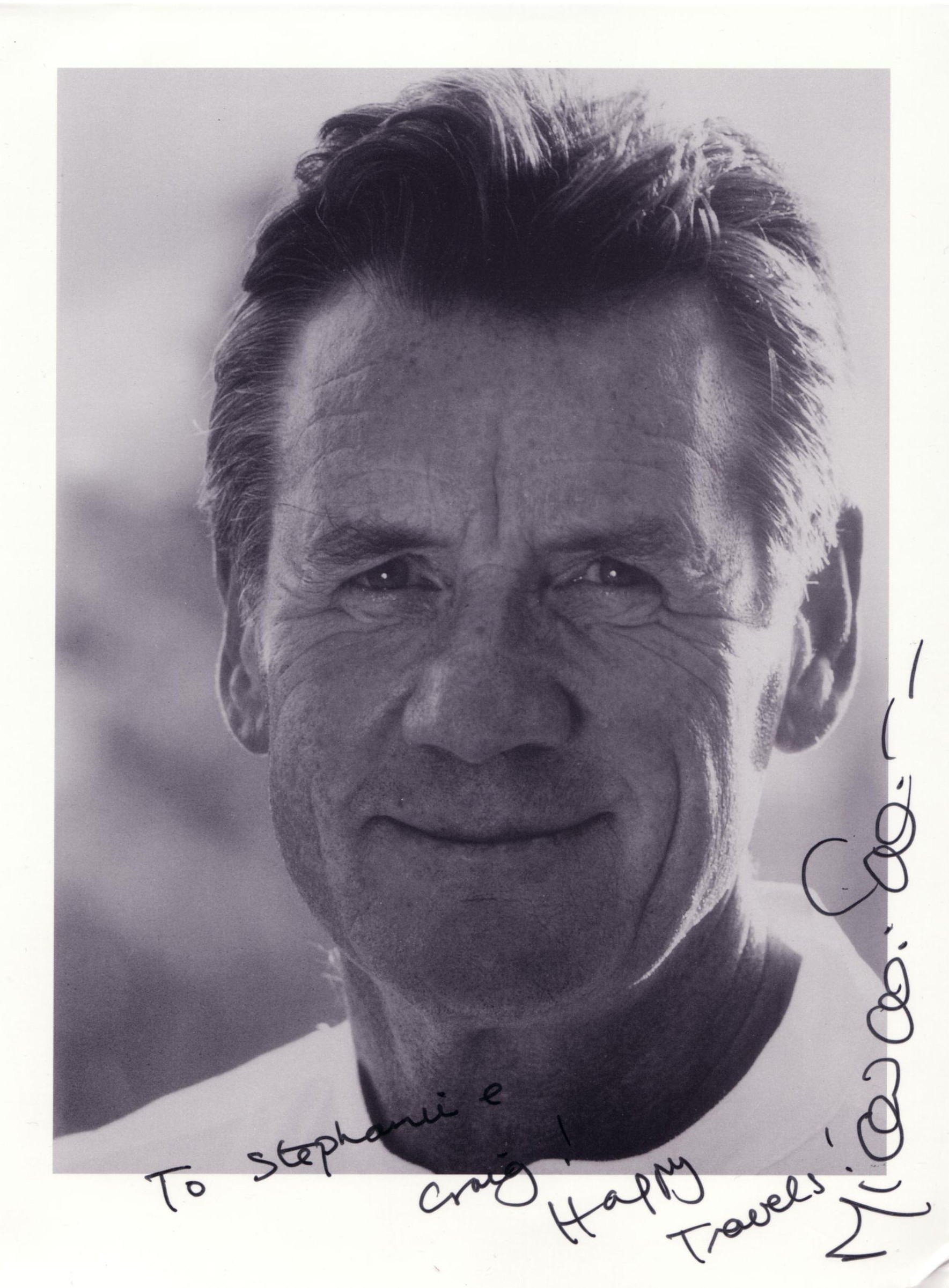 To Stephanie Craig! Happy Travels! Michael Palin (November 2002)