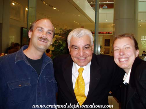 Craig and Steph with Dr. Zahi Hawass, Museum of Fine Arts  5/5/2004