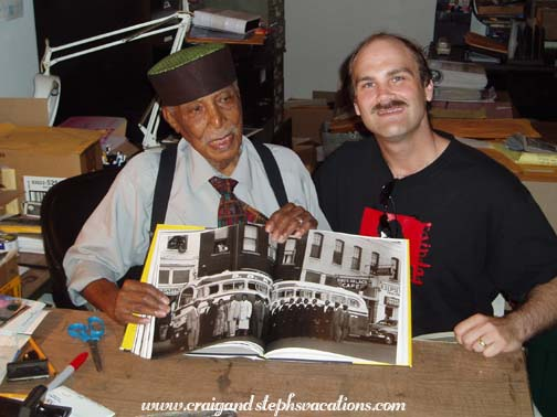 Ernest C. Withers showing Craig the photo of our friend Frank