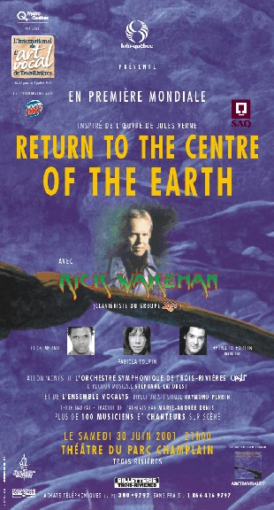 Poster for World Premiere of Return to the Centre of the Earth