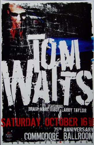Poster for Tom Waits Concert, Commodore Ballroom, Vancouver